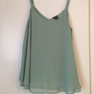 Torrid Light teal tank top